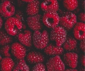 red, food, and fruit image