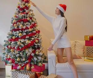 christmas tree, interior, and jingle bell image