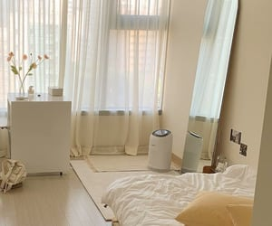 interiors, korean style, and beige aesthetic image