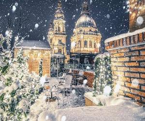 budapest, christmas, and snow image