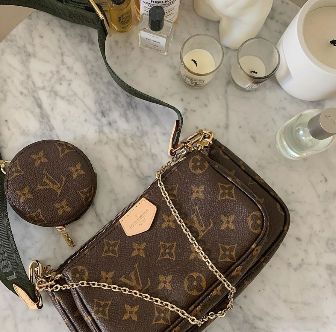 bag, luxury, and purse image
