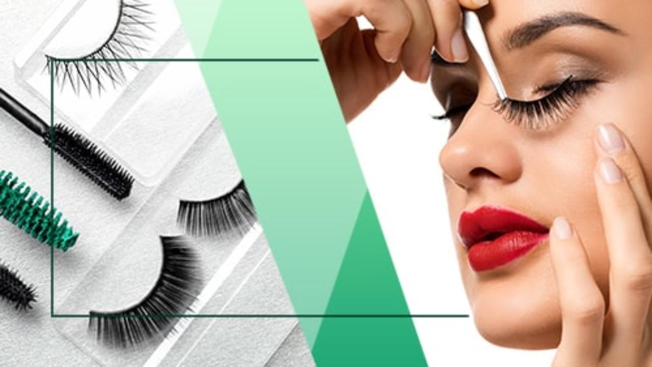 article, beauty, and false eyelashes image