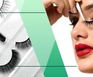 article, cosmetics, and false eyelashes image