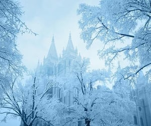 architecture, goth, and snow image