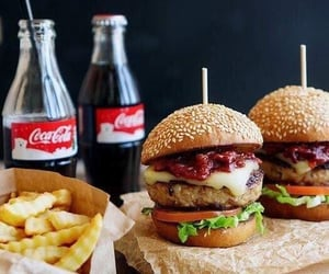 burger, drinks, and fries image