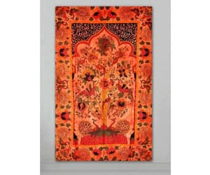 etsy, orange tapestry, and bohemian tapestry image