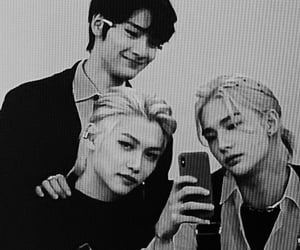 hyunjin, felix, and stray kids image
