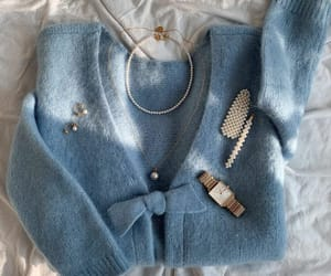 blue, girly, and outfits image