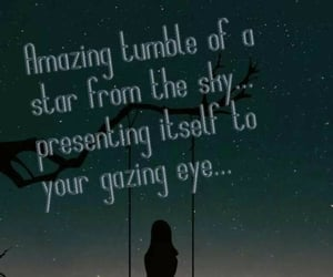 falling, quotes, and night image