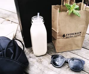 sunglasses, grunge, and bag image