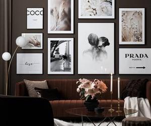 blanco, cuadros, and decoracion image