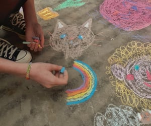 art, chalk, and colors image