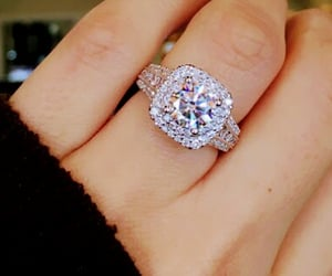 bling, engagement, and diamond image