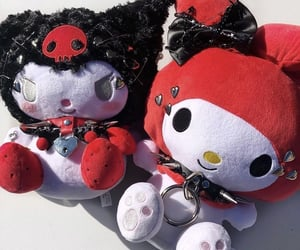 goth, my melody, and sanrio image