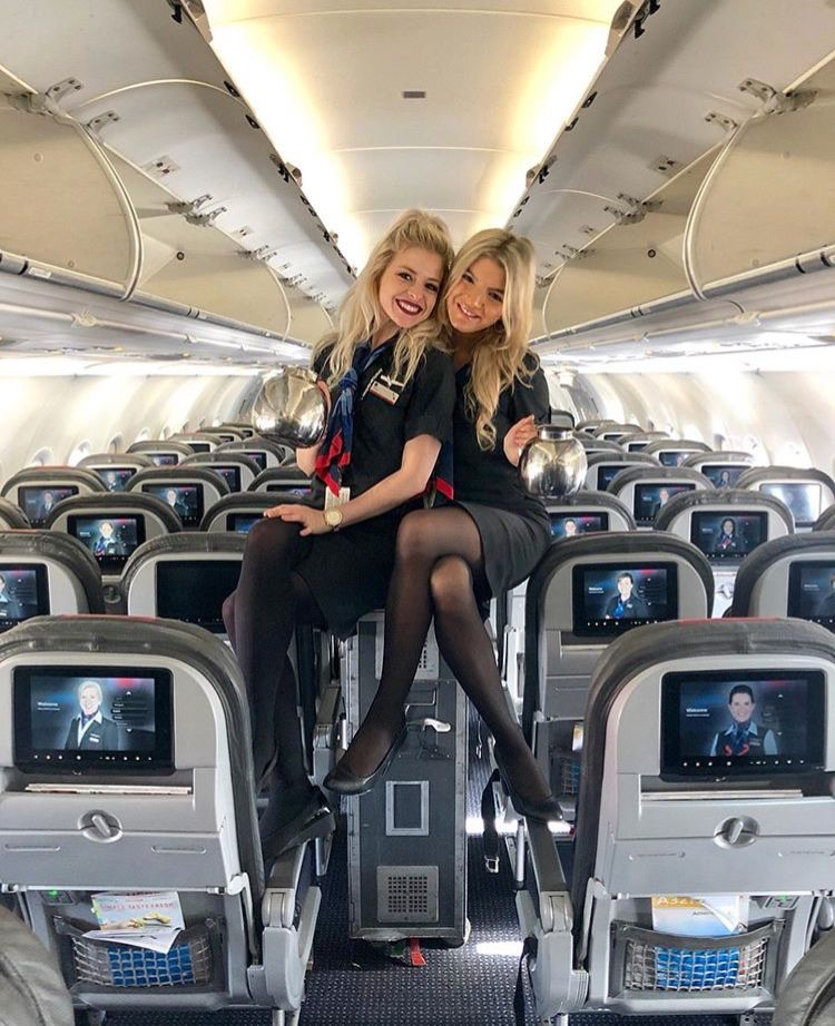 flight, travel, and flight attendant image