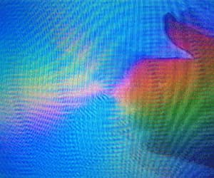 aesthetic, holographic, and rainbows image