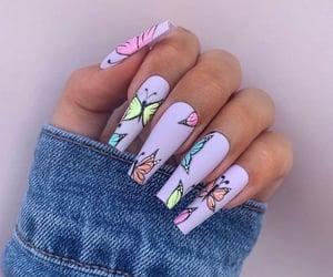 nails, nail polish, and oje image