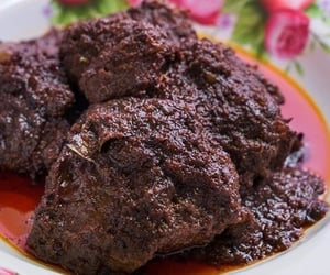 asian food, beef rendang, and indonesian food image