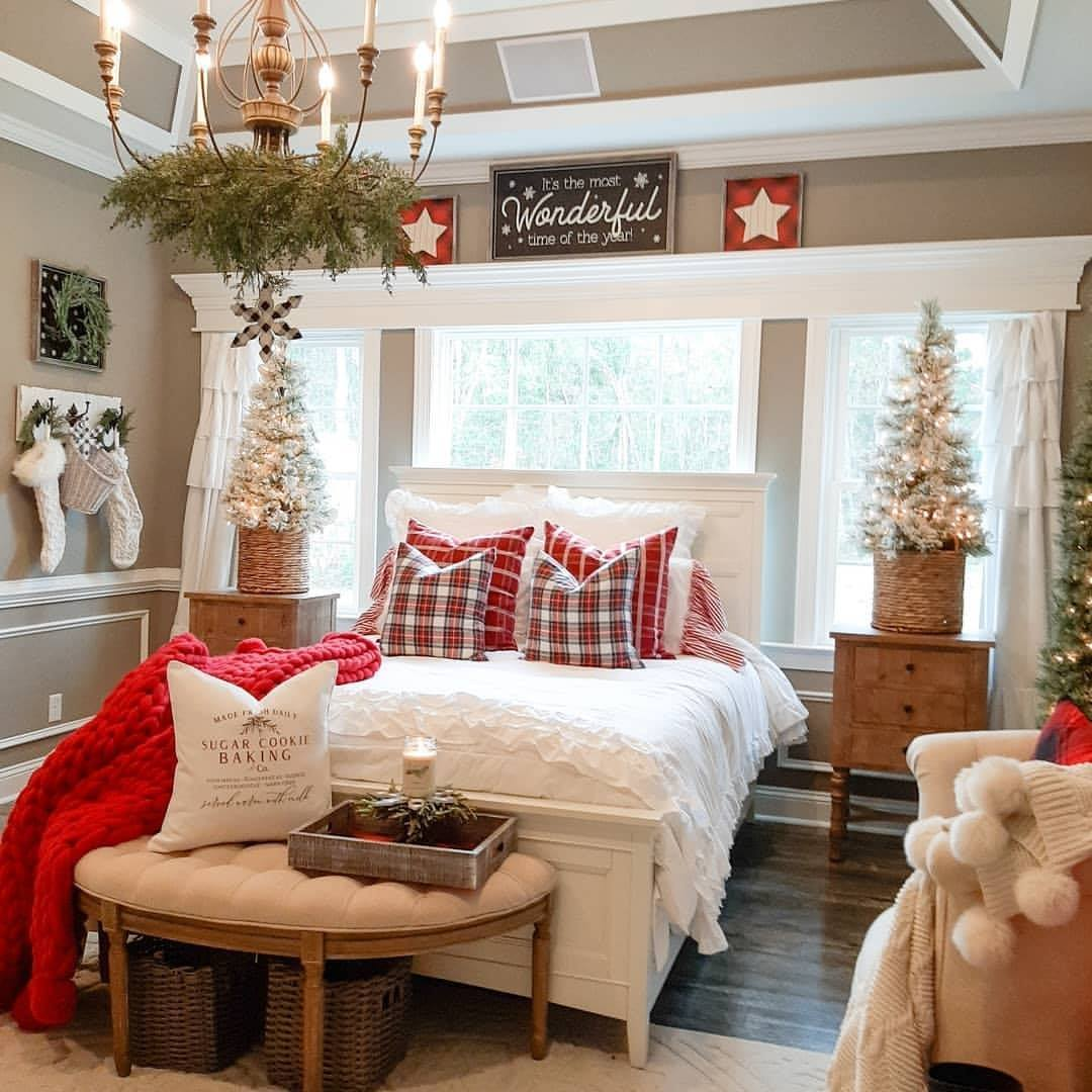 christmas, interior, and bedroom image