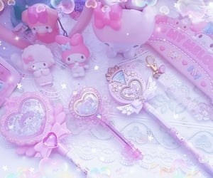 my melody, pink, and cute image