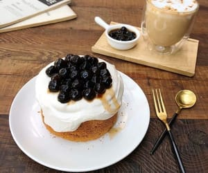 delicious, coffee, and food image
