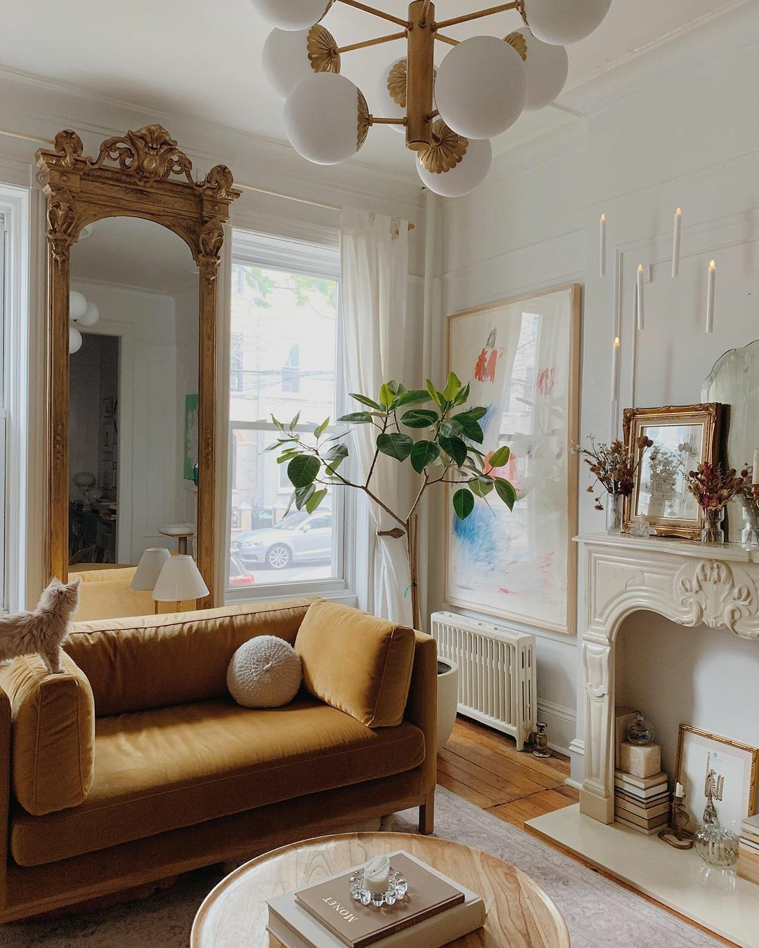 brownstone, decorating, and interiors image