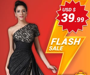 lace prom gown, women evening dress, and pleated party wear image
