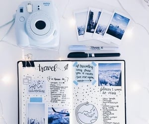 blue, journal, and bullet journal image