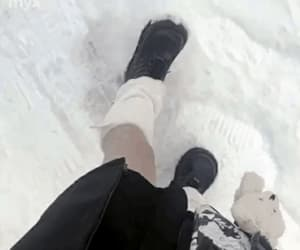 gif, goth, and snow image
