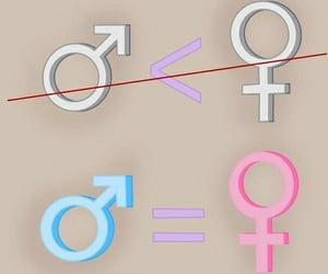 femenino, hombre, and libertad image