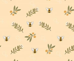 bee and pattern image