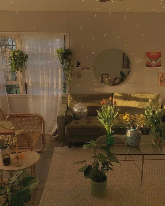 home, living room, and aesthetic image