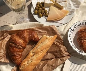 food, croissant, and cheese image