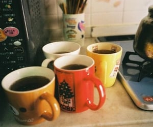 vintage, cup, and coffee image
