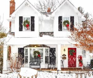 home, house, and snow image