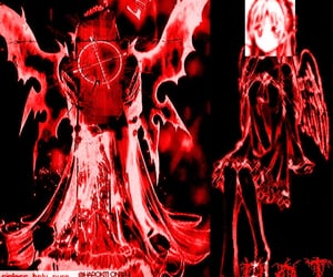 cyber, red, and cybercore image