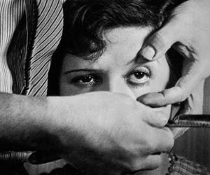 eyes, eye, and black and white image