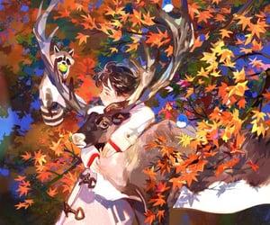 aesthetic, girl art, and japanese maple image