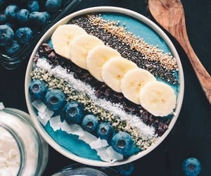 coconut, delicious, breakfast and blueberries - image #7714113 on Favim.com