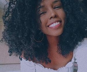 black girl, curly girl, and 3b hair image