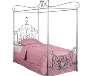 selectfurniturestore, princess twin bed frame, and canopy twin size bed image