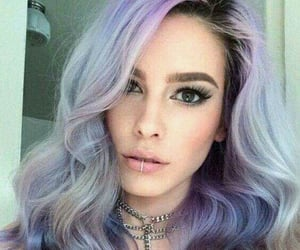 purple hair, fantasy color hair, and hair color image