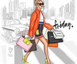 chic, friday, and shopping image