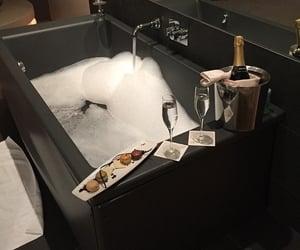 bath, black, and luxury image