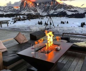 cozy, nature, and snow image