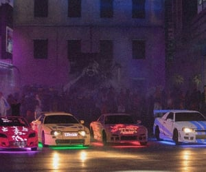 cars, drag racing, and neon image