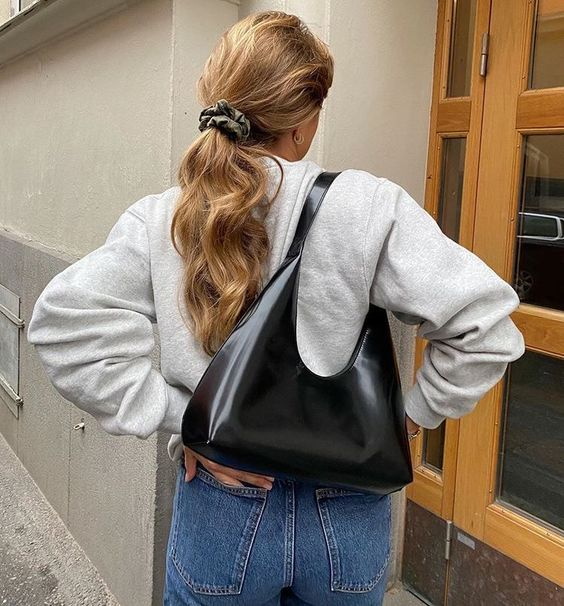 bag, blonde, and hair image