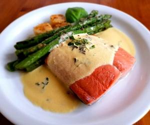 eat, food, and salmon image