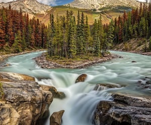 Natural Beauty of Sunwapta Falls in Jasper National Park, Canada. Pierre Leclerc Photography