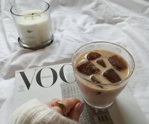 vogue, candle, and coffee image